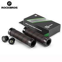 ROCKBROS Bicycle Grips Cycling Ultralight Anti-slip Wrapped Handlebar Cover PP Plastic Aluminum Alloy MTB Road Bike Accessories