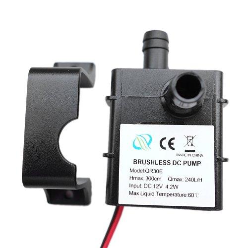 Mini Ultra-quiet Water Pump DC 12V 4.2W 240L/H Flow Rate Waterproof Brushless Pump Low consumption QR30E