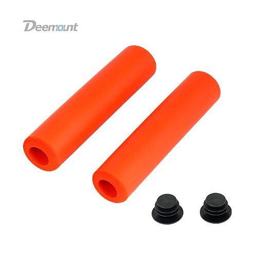 Deemount New Cycle Handlebar Grips Silicone Foam Bar End Casing W/ Caps MTB Cycling Hand Rest Multi color options