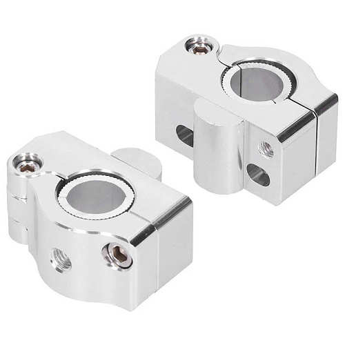 Motorcycle Handlebar Riser Mount Weight Block with Gasket for 22mm/28mm Variable Diameter Silver