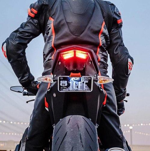 For 250 390 200 125 RC390 2013 - 2020 Motorcycle Adjustable Angle License LED Lamp Number Plate Frame Holder Bracket