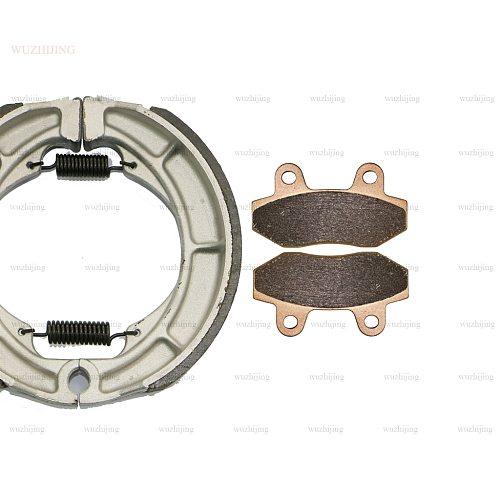 for HYOSUNG GV 250 GV250 i Aquila Classic 2009 - 2015 Brake Pads Shoe Drum set Front Rear 2014 2013 2012 2011 2010