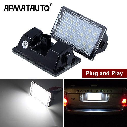 2pcs LED 12V Car License Plate Light For Land Rover Discovery 3 4 LR3 LR4 Freelander 2 LR2 Range Rover Sport Number Plate Lamp