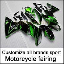 Full fairing kits for 650R ER6F 2009 2010 2011 GREEN black ABS motorcycle cowl ER 6F Motorcycle panels Fairing