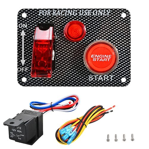 DC 12V 24V Auto LED Racing Car Ignition Engine Start On/Off Push Toggle Switch Panel Flip switch Current 20A Toggle Switch