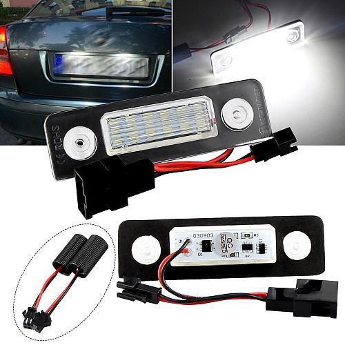 LED CANBUS License Plate Lights Number For VW Skoda Facelift 09-12; Facelifted 2003-2012; Roomster 5J 2006-2010)