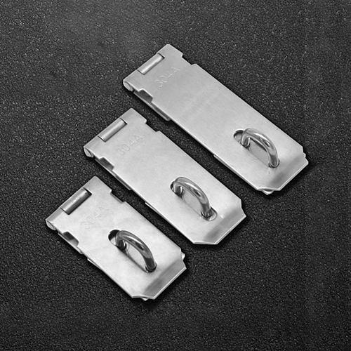 Stainless Steel Gate Door Lock Padlock Solid Clasp Anti Theft Hasp Staple Shed Latch Household Burglar-proof Hardware