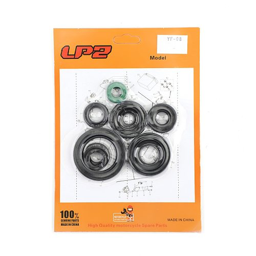 Areyourshop 10pcs for Honda CR125R CR125 CR 125 125R 1987-2003 2000 2001 2002 Complete Engine Oil Seal Kit