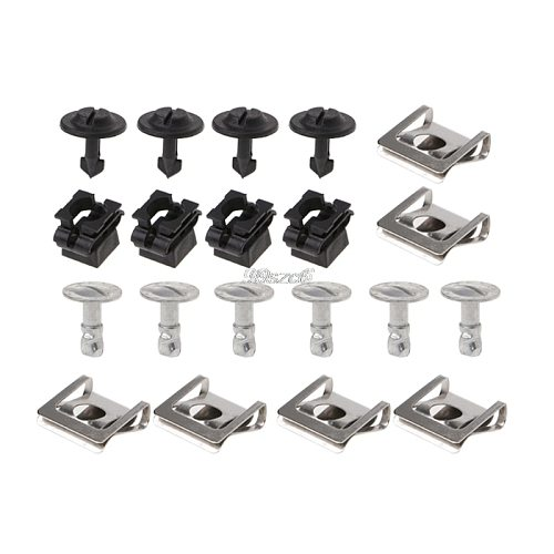 20PCs/Set Undertray Guard Engine Under Cover Fixing Clips & Screw KIT For AUDI A4 A6 DropShip Dropshipping