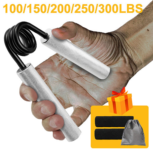 100lbs-300lbs Fitness Heavy Grips Wrist Rehabilitation Developer Alloy Hand Grip Muscle Strength Training Device Carpal Expander
