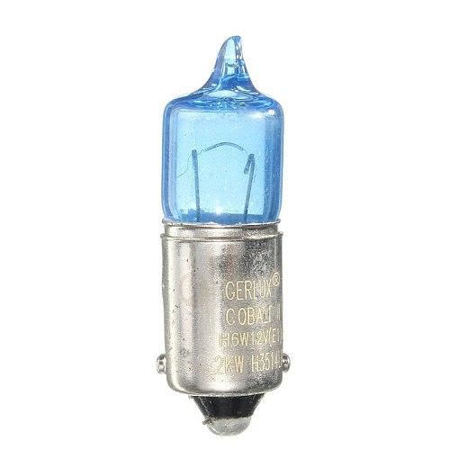 BAX9S H6W  Car  Sidelight Bulbs Turn Signal Lamp Bulbs Car Light Source  DC 12V 5000K License Plate Light Bulb