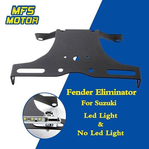 LED Lights Number License Plate Holder Bracket For 06-10 Suzuki GSXR600 GSXR750 GSXR 600 750 Fender Eliminator Motorcycle Parts
