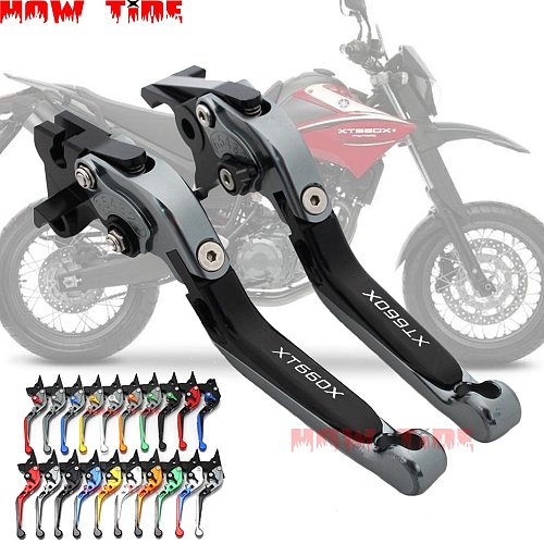 Motorcycle parts folding telescopic adjustable brake clutch lever CNC for YAMAHA XT660X XT 660X XT660 2004-2013 2012 2011