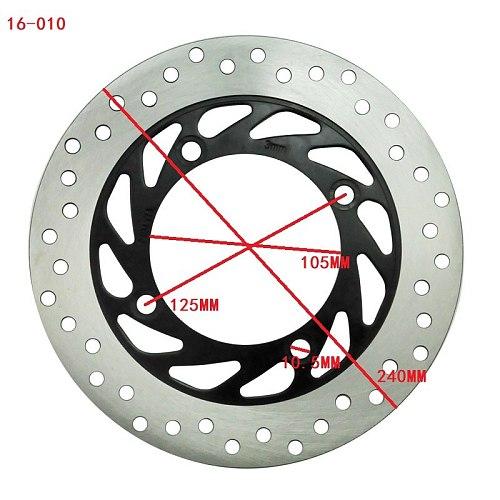 Motorcycle Rear Brake Disc Rotor For Honda FJS600 Silverwing 2001-2006 XL600V Transalp 87-01 XL650V 99-07 CB500S Sport 98-03