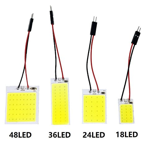 White T10 W5w Cob 24SMD 36SMD 48SMD BA9S Car Led Clearance License Plate Lamp Auto Interior Reading Bulb Trunk Festoon Light 12V