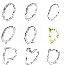ZEMIOR 100% 925 Sterling Silver Water Droplet Clear CZ Finger Rings for Women Wedding Engagement Jewelry Girlfriend Fine Gift