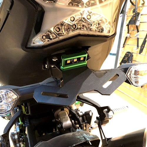 Motorcycle Accessories License Plate Frame Mount Holder Bracket with Light LED For Kawasaki Z900 Z 900 ABS 2017 2018 2019 2020