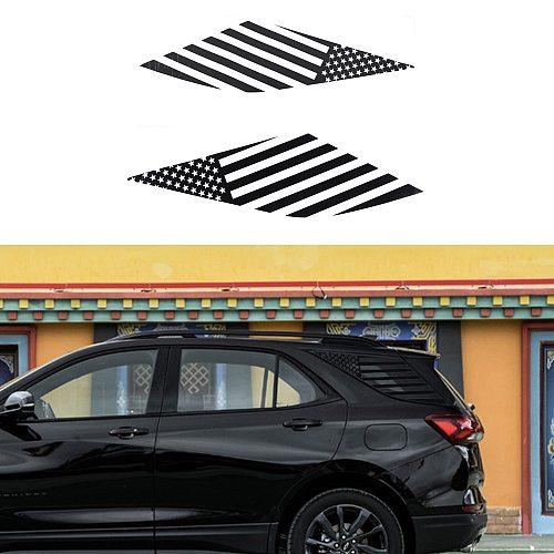 for Chevrolet Equinox 2017 2018 2019 2020 2021 Rear Triangle Window Cover Trim Decorative Sticker Decal Car Accessories PVC
