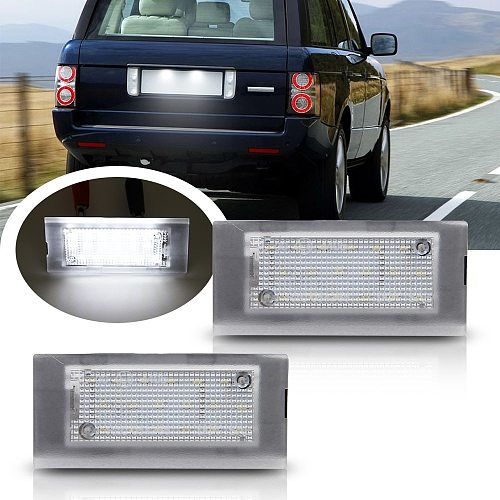 2pcs Car LED License Number Plate Light Replacement Lamp For Range Rover 2003 2004 2005 2006 2007 2008 2009 2010 2011 2012
