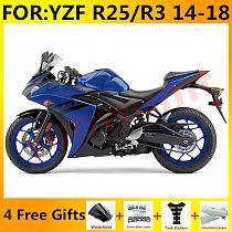 New ABS Motorcycle Full Fairings Kit Fit For Yamaha YZF R3 2015 2016 2017 2018 YZF R25 15 16 17 18 fairing Bodywork blue black