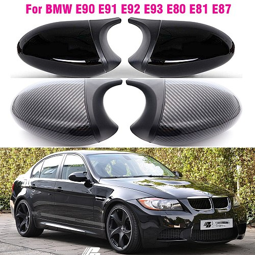 Replacement Rearview Side Mirror Covers Cap For BMW E90 E91 E92 E93 E81 E87 E82 E88 3 1 Series M Accessories Carbon Fiber Gloss