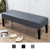 Soft Dining Bench Cover PU Rectangle Upholstered Removable Bedroom Kitchen Bench Long Seat Slipcover Decor