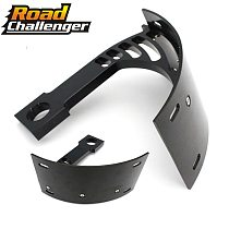 License Number Holder plate Mount Curved Vertical For Motorcycle Bike with a 1  axle