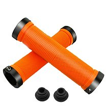 Hot Sale 1 Pair Rubber And Aluminium Alloy Cycling Grips With Lock Non-Slip Road Bike Handle Bicycles Parts MTB Cuffs Handlebar
