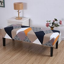 Geometry Long Bench Cover Elastic Stretch Chair Covers for Living Room Kitchen Bedroom Piano Bench Slipcover Seat Protector 1PC