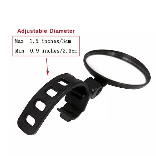 free shipping Adjustable Bicycle Rearview Handlebar Wide-Angle Convex Mirror Cycling Rear View MTB Bike Rearview Mirror
