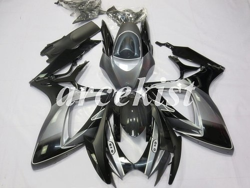 New ABS Full Fairings Kit Fit For SUZUKI GSX-R600 GSX-R750 06 07 R600 R750 K6 GSXR 600 750 2006 2007 body set black gray