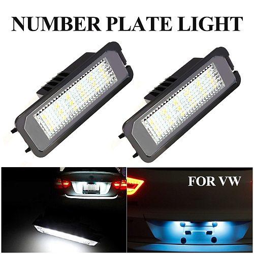 2pcs Car 12V LED Number Licence Plate Light Lamps for VW GOLF CTI MK5 MK6 PASSAT 3D0943021A 3C5943021 1K8943021 7L6943021