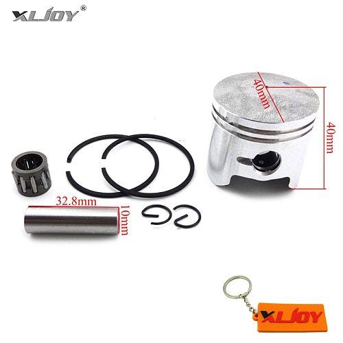 XLJOY 40mm Piston 10mm Pin Ring Needle Bearing For 2 Stroke 47cc Engine Minimoto Pocket Dirt Bike Mini Kids ATV Quad