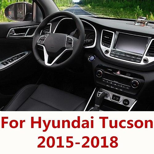 For Hyundai Tucson 2015-2018 Car Interior Navigation Control Panel air conditioner outlet Decorative Frame Cover Trim