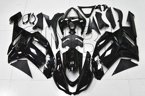 for Kawasaki Zx6r 08 Plastic Fairings for Kawasaki Zx6r 07 glossy Black Motorcycle Fairing 636 Zx-6r 2007 - 2008 Full Body Kits