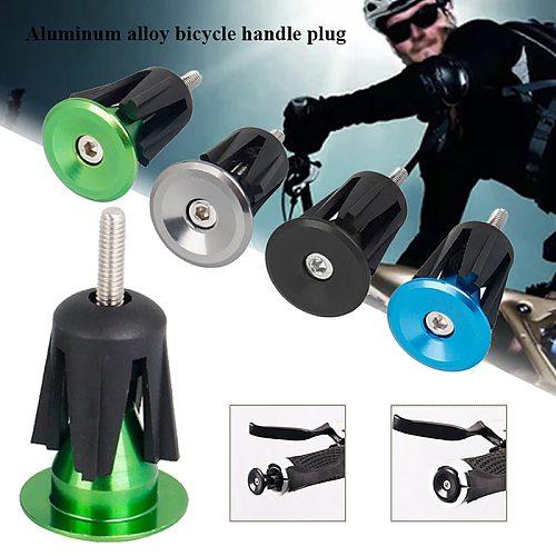 1 Pair Bicycle Grip Handlebar End Cap Aluminium Alloy Lock MTB Mountain Handle Bar Grips End Plugs for Bike Handlebar Accessory