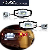 iJDM Canbus 6000K Xenon White LED Car Number License Plate Lights For Honda Civic Accord Pilot, Acura MDX RL TL TSX RDX ILX etc