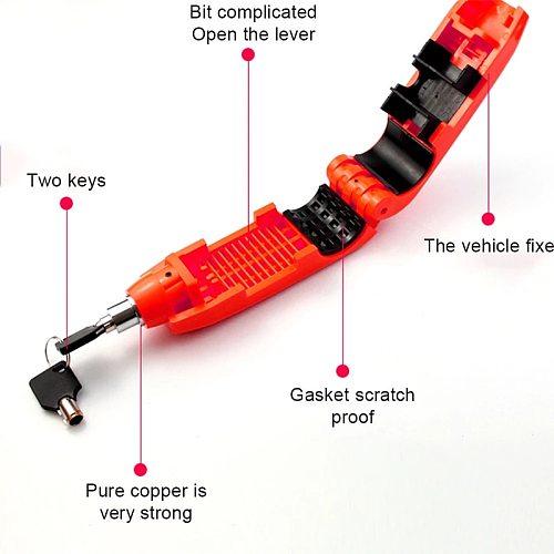 Motorcycle Handlebar Lock Universal Scooter Safety Lockstitch Brake Throttle Grip Anti Theft Protection Security Mini Lock