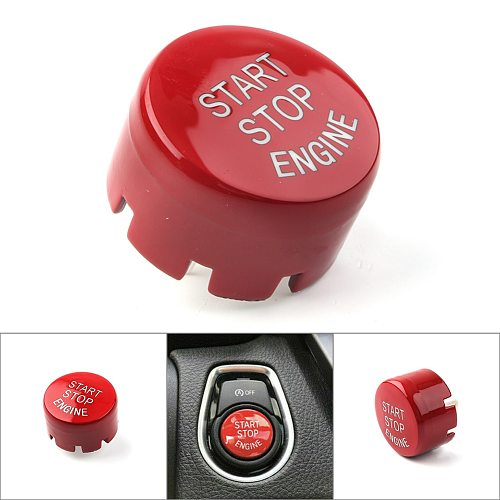 Car Switches Button Covers Auto Start/Stop Engine Button Switch Cover for BMW F classis F10 F13 F20 F22 X1 X3 X4 X4 2009-2018