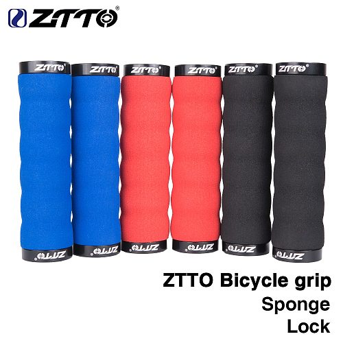 ZTTO Bicycle Parts MTB Comfortable Sponge Shock-Proof Anti-Slip Lock Grips For Mountain Bike Bicycle With Bar Plug AG30 1Pair