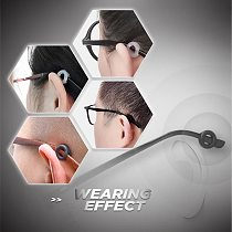 6/3 PAIRS Non-slip Round Comfortable Glasses Retainers Glasses Ear Hooks Eyeglasses Sports Temple Tips Anti Slip Silicone Grips