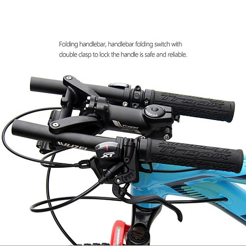 New Quick Foldable Bicycle Cycling Handlebar 25.4mm 31.8mm Alloy Stunt Scooter Bar Mtb Road Folding Bike Handlebar T10-ddm Zero