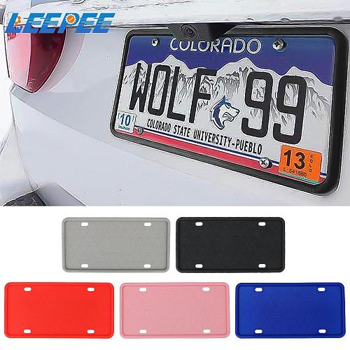 With Drainage Holes Car Accessories For US Canada Car Automobile License Plate Cover Silicone License Plate Frame