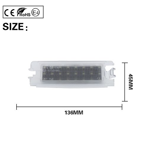 1XNo Error LED License Plate Light Number Plate Lamp For DACIA LOGAN 1 2004-2012 SANDERO 1 2008-2012 RENAULT CLIO II 2 2001-2004