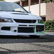 LEEPEE License Plate Frame Relocator Base For Mitsubishi Lancer GTS EVO X 2008-2018 Car Accessories Auto Front Bumper Install