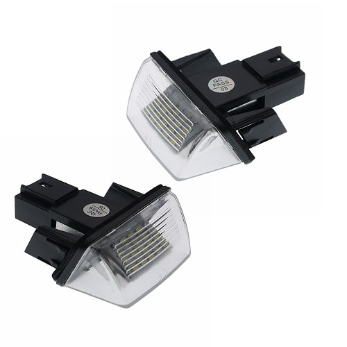 2x 18SMD LED Number License Plate Lights bulb For PEUGEOT 206 207 306 307 308 406 407 5008 Partner SAXO CITROEN C3 C4 C5 Canbus