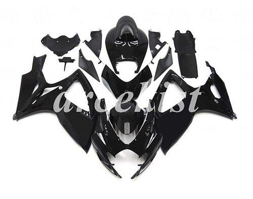 New ABS Full Fairings Kit Fit For SUZUKI GSX-R600 GSX-R750 06 07 R600 R750 K6 GSXR 600 750 2006 2007 body set black glossy