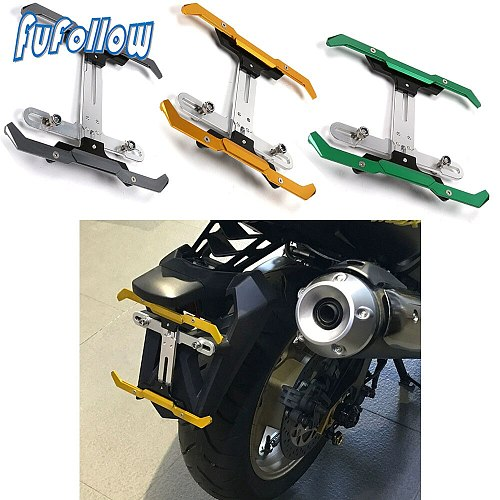 Motorcycle Universal Modified CNC Adjustable License Plate Bracket Holder For Honda FORZA300 X-ADV750 ADV150 MAX125 NC750X DCT