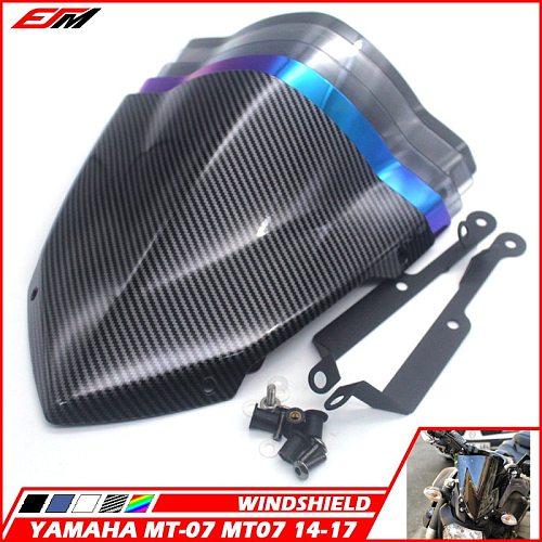 Motorcycle Accessories Windshield Windscreen For YAMAHA MT-07 FZ-07 2014-2017 2018-2020 Wind Deflectors MT07 FZ07 FZ MT 07