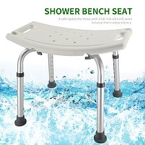 Non-slip Bath Chair Elderly  Bathroom Shower Bench Adjustable Height Shower Tub Stool Bath Shower Seat Shower Chair for Disabled